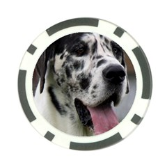 Great Dane harlequin  Poker Chip Card Guards