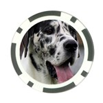 Great Dane harlequin  Poker Chip Card Guards Front