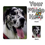 Great Dane harlequin  Multi-purpose Cards (Rectangle)  Back 40