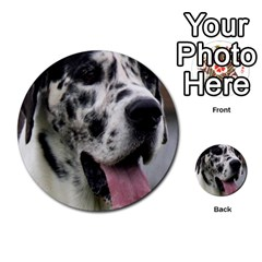 Great Dane harlequin  Multi-purpose Cards (Round)