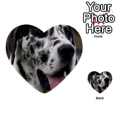 Great Dane harlequin  Multi-purpose Cards (Heart)