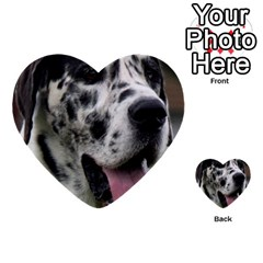 Great Dane harlequin  Multi-purpose Cards (Heart)