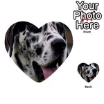 Great Dane harlequin  Multi-purpose Cards (Heart)  Back 2