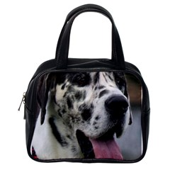Great Dane harlequin  Classic Handbags (One Side)
