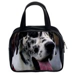 Great Dane harlequin  Classic Handbags (2 Sides) Front
