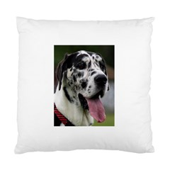 Great Dane harlequin  Standard Cushion Case (One Side)
