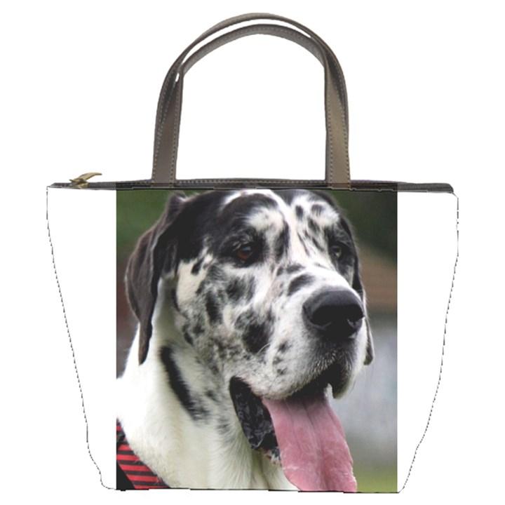Great Dane harlequin  Bucket Bags