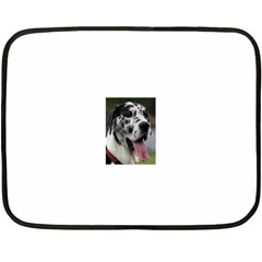 Great Dane harlequin  Fleece Blanket (Mini)