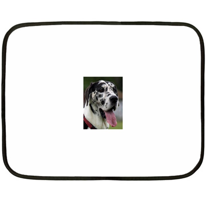Great Dane harlequin  Double Sided Fleece Blanket (Mini)