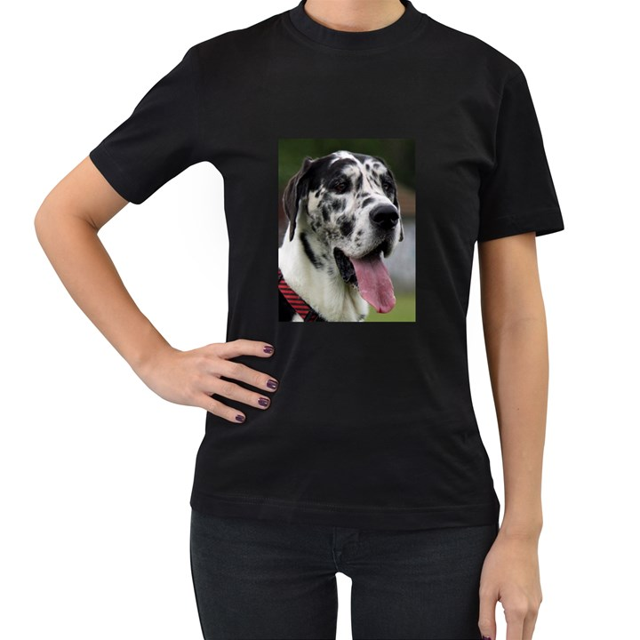 Great Dane harlequin  Women s T-Shirt (Black)