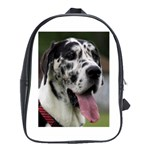 Great Dane harlequin  School Bags(Large)  Front