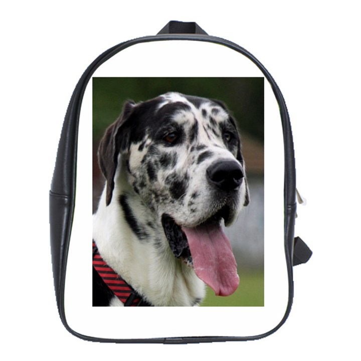 Great Dane harlequin  School Bags(Large)