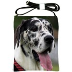 Great Dane harlequin  Shoulder Sling Bags Front