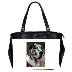 Great Dane harlequin  Office Handbags (2 Sides)