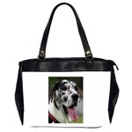 Great Dane harlequin  Office Handbags (2 Sides)  Front