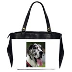 Great Dane harlequin  Office Handbags (2 Sides)  Back