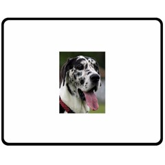 Great Dane Harlequin  Fleece Blanket (medium)