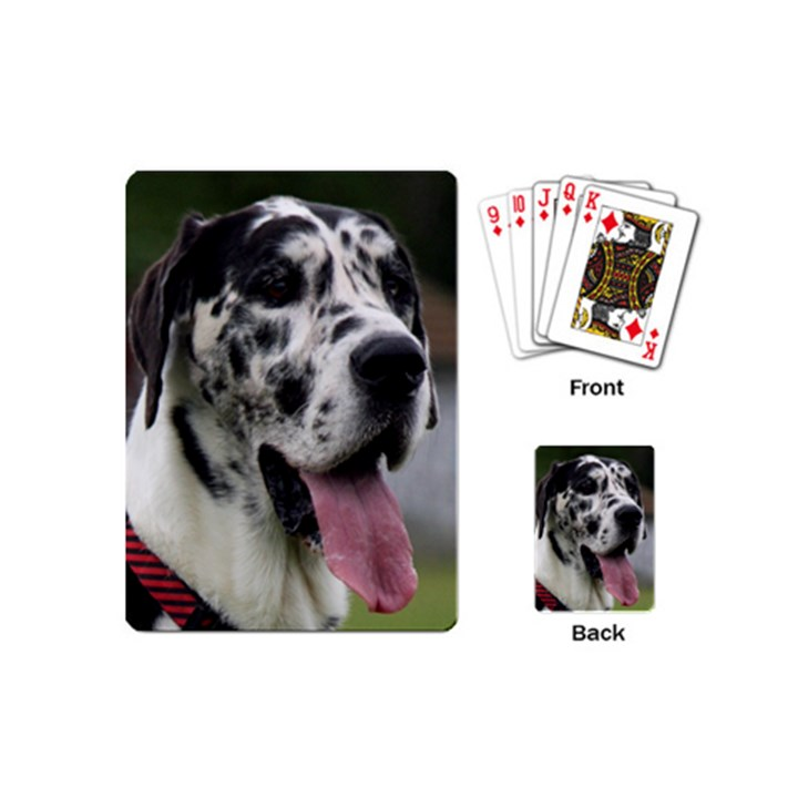 Great Dane harlequin  Playing Cards (Mini)
