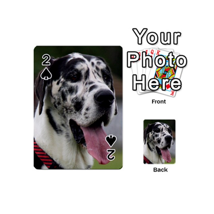 Great Dane harlequin  Playing Cards 54 (Mini)