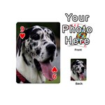 Great Dane harlequin  Playing Cards 54 (Mini)  Front - Heart9