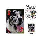 Great Dane harlequin  Playing Cards 54 (Mini)  Front - Heart10