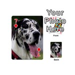 Great Dane harlequin  Playing Cards 54 (Mini)  Front - Diamond7
