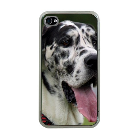 Great Dane harlequin  Apple iPhone 4 Case (Clear)