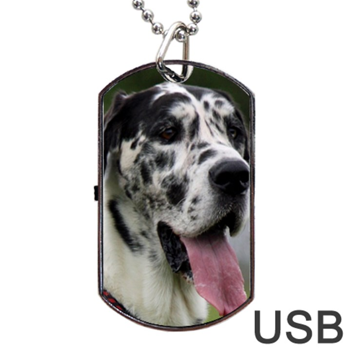 Great Dane harlequin  Dog Tag USB Flash (One Side)