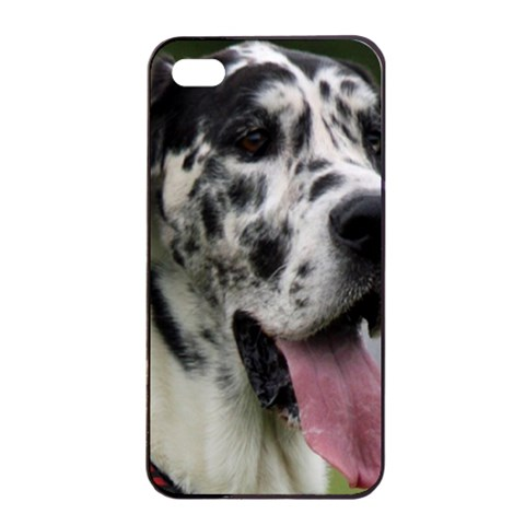 Great Dane harlequin  Apple iPhone 4/4s Seamless Case (Black)