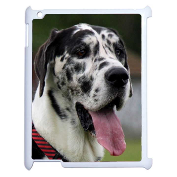 Great Dane harlequin  Apple iPad 2 Case (White)