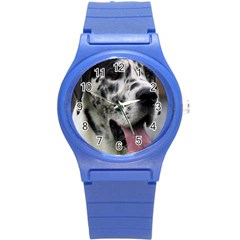 Great Dane harlequin  Round Plastic Sport Watch (S)