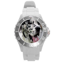 Great Dane harlequin  Round Plastic Sport Watch (L)