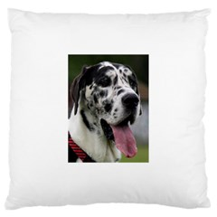 Great Dane harlequin  Large Cushion Case (One Side)