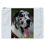Great Dane harlequin  Cosmetic Bag (XXL)  Front