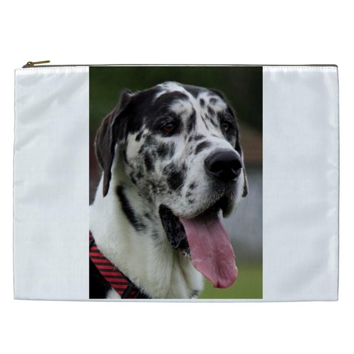 Great Dane harlequin  Cosmetic Bag (XXL)