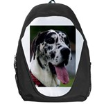 Great Dane harlequin  Backpack Bag Front
