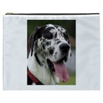 Great Dane harlequin  Cosmetic Bag (XXXL)  Front
