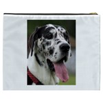 Great Dane harlequin  Cosmetic Bag (XXXL)  Back