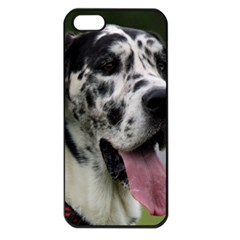 Great Dane harlequin  Apple iPhone 5 Seamless Case (Black)