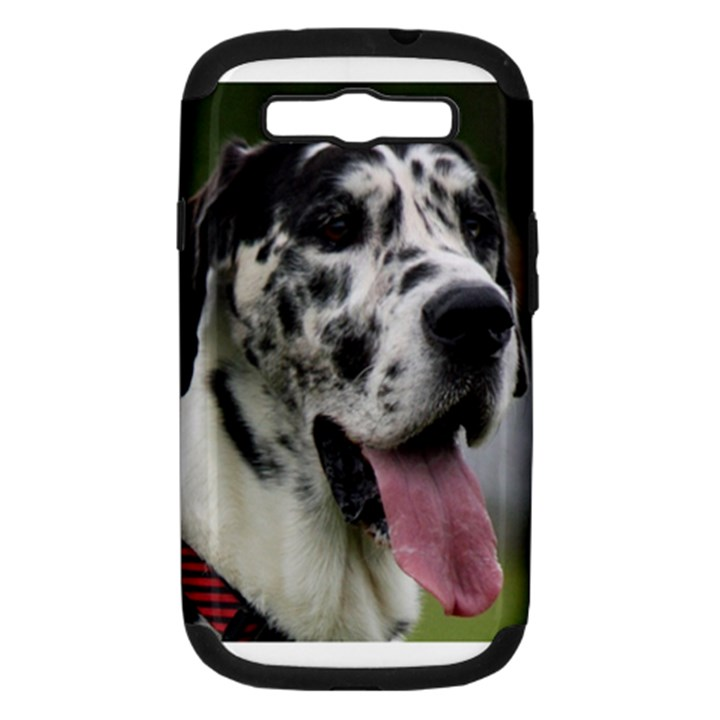 Great Dane harlequin  Samsung Galaxy S III Hardshell Case (PC+Silicone)