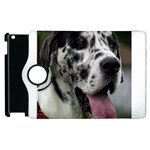 Great Dane harlequin  Apple iPad 3/4 Flip 360 Case Front