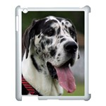 Great Dane harlequin  Apple iPad 3/4 Case (White) Front