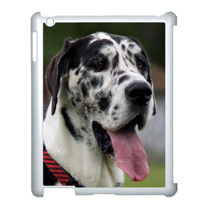Great Dane harlequin  Apple iPad 3/4 Case (White)