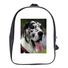 Great Dane harlequin  School Bags (XL)