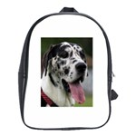 Great Dane harlequin  School Bags (XL)  Front