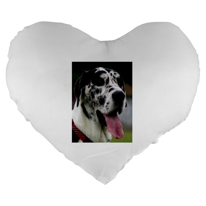 Great Dane harlequin  Large 19  Premium Heart Shape Cushions
