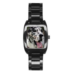Great Dane harlequin  Stainless Steel Barrel Watch