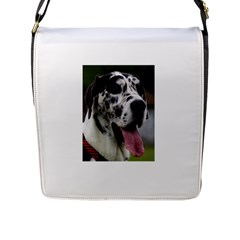Great Dane harlequin  Flap Messenger Bag (L)