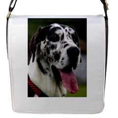 Great Dane harlequin  Flap Messenger Bag (S)