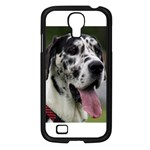 Great Dane harlequin  Samsung Galaxy S4 I9500/ I9505 Case (Black) Front